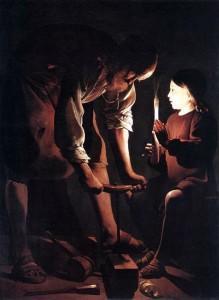 Georges de La Tour. St. Joseph, the Carpenter