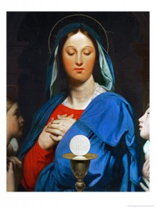 The Virgin with the Eucharist -1866 Ingres Jean Auguste Dominique