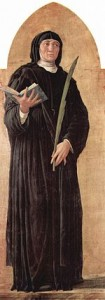St. Scholastica from the San Luca Altarpiece by Andrea Mantegna (1453)